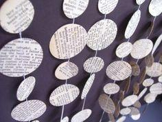 news paper garland