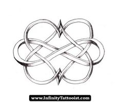 double infinity heart tattoos