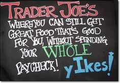 ..but what's actually good? Check out this guide to 'What's Good at Trader Joe's'