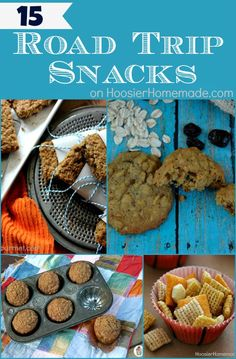 15 Road Trip Snacks on HoosierHomemade.com #snacks #roadtrips