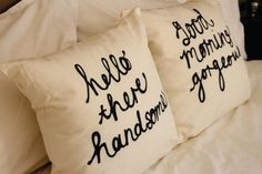 Hello There Handsome Cushion Covers.