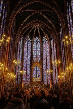 I'm not usually a fan of churches, but the Upper Chapel of Sainte-Chapelle on the Île de la Cité in Paris just took my breath away