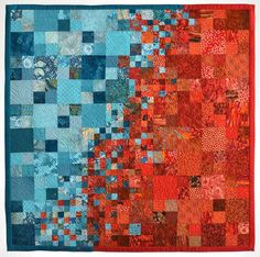 Cold Front Meets High Pressure by Terri Sankovitz.  Art quilt, Milwaukee Art Quilters