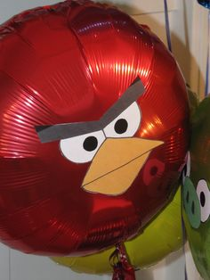 Homemade Beauties By Heidi: Day #6 Bird-Day Week Continued: Angry Bird Balloons