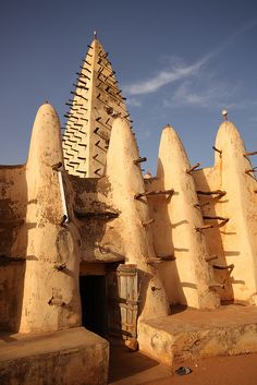 Entrance to Bobo-Dioulassos Sudanese style Mud Mosque - Africa