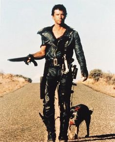 The Outback is like this picture but with scary animals and less available gasoline. #Australia warrior, mel gibson, mad max, postapocalyptic, madmax, dog, the road, scary animals, post apocalyptic