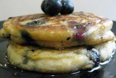 Fluffy, Melt-In-Your-Mouth Blueberry Coconut Pancakes   VegWeb.com, The World's Largest Collection of Vegetarian Recipes