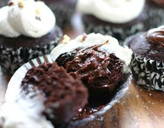 Nutella Stuffed Cupcakes with Sea Salted Buttercream seas, cupcakes ...