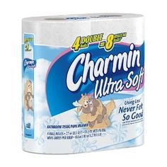 #1: Charmin Ultra Soft, Double Rolls, 4 Count Packs (Pack of 10) 40 Total Rolls  [Amazon Frustration-Free Packaging].
