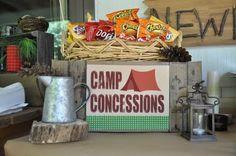 Cute backyard campout party!