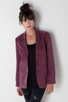 Curpro Jacket in Deep Wine by Something Else by Natalie Wood for $208.00