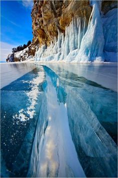 Lake Baikal - Its a rift lake in the south part of the Russian region of Siberia. Its located between the Irkutsk Oblast to the northwest and the Buryat Republic to the Southwest.