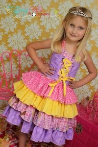 Primrose's Ruffled Corset Princess Dress PDF Sewing Pattern by Create Kids Couture