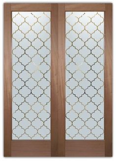 Patterned glass doors on pinterest glass doors interior for Design patterns of doors
