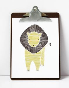 Leo Lion Illustration - Safari Collection. via Etsy.