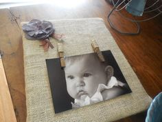 Burlap picture frame / Shabby Chic / wall hanging/ home decor on Etsy, $35.00