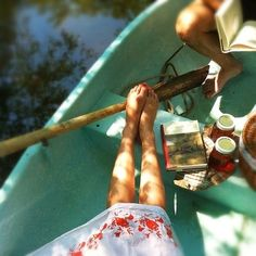 summer picnic, dream, boats, company picnic, book, lake, sunday afternoon, cano, lazy summer days