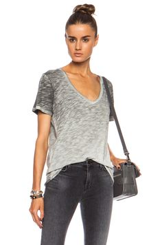 NSF | Cora Tee in Black Pigment Stain