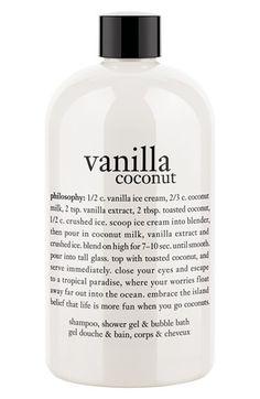 vanilla coconut shower gel / philosophy