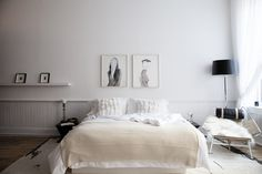 black + white bedroom / lonny