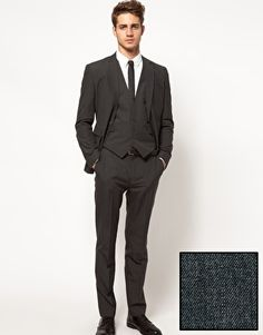 ASOS Slim Fit Suit in Charcoal