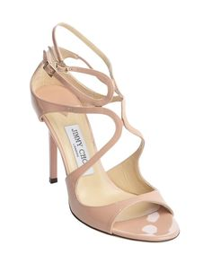 Jimmy Choo pink patent leather 'Lang' strappy detail sandals. Retail $795.00 $576.00 Save 28% ONLY IN SIZES - (8- 8.5 - 9)