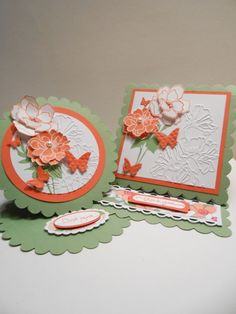 card duo, easel cards, floret easel, tini butterfli