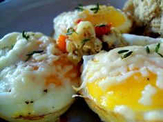 Baked egg in muffin tin