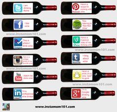 Social Media Explained Through Wine social savvi, wine, socialmedia explain, market, sociala medier, social media, busi, social humor, medium