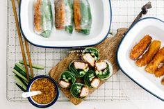 Tonkatsu Salad Roll Recipe