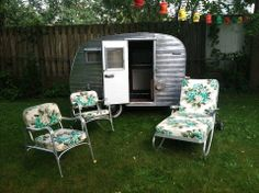 Love the camper and the lawn furniture!!