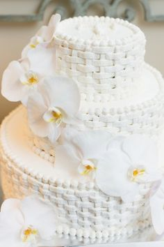 All white cakes