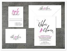 Soho wedding invitation by Paper Dahlia