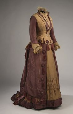 Dress ca. 1877   From the Musee McCord Museum