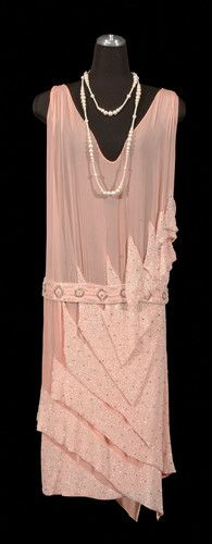 Evening Gown - 1926 - The Diaghilev Era costum, evening dresses, fashion, flapper dresses, evening gowns, pink, flappers, art deco, evenings