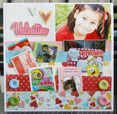 valentin layout, scrapbook layouts, valentine day cards, scrapbook for friends, valentine cards