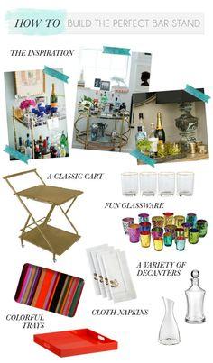 Our Double bar cart via the @Gemma Docherty Docherty Ocampo-Sioson Guide! #barcart