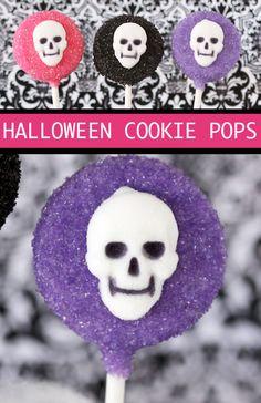 Easy No Bake Halloween Cookie Pops.