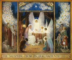 angel, holi night, tarrant illustr, margaret tarrant, art