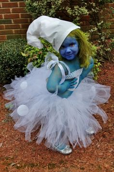 "Smurfy Inspired Tutu Costume Toddler up to 5T or Approximately 23"" Chest Measurement for Costume, Plays, Dress-Up, Photo Prop. $70.00, via Etsy."
