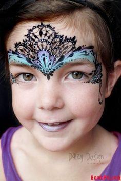 lace face paint - Google Search