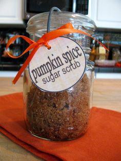 Pumpkin Spice Sugar Scrub #diy