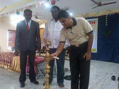 Workshop on Social Media For Students @என். சொக்கன் lighting the Lamp at Star Lion College of Engg & Tech