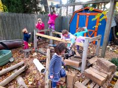 How children play outdoors. The castle still stands. Its dungeon filled with debris becomes a new play space.