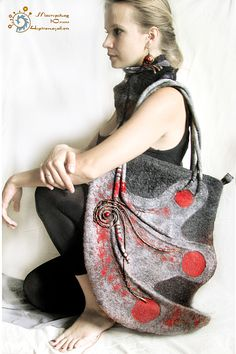 craft time, felt bag, craft idea, craft project, felting bags