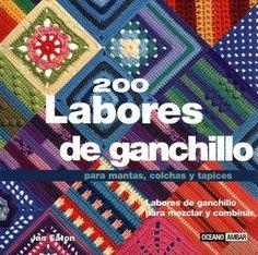 200 labores de ganchillo picasa web, de ganchillo, crochet granny squares, book, revista, 200 labor, web album, para manta, labor de