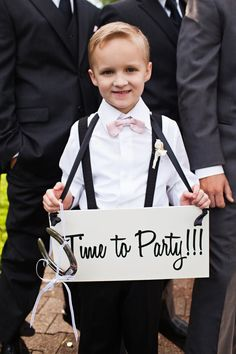 """Ring Bearer  Aisle sign, reverse side should say """"here comes the bride"""""""