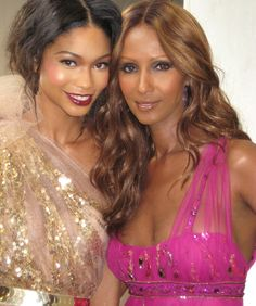 with Chanel Iman