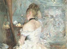 """""""Jeune femme de dos à sa toilette"""" (1875/1880) de Berthe Morisot; at the Art Institute of Chicago"""