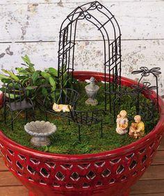 Loving this Charming Garden Mini Garden Set on #zulily! #zulilyfinds